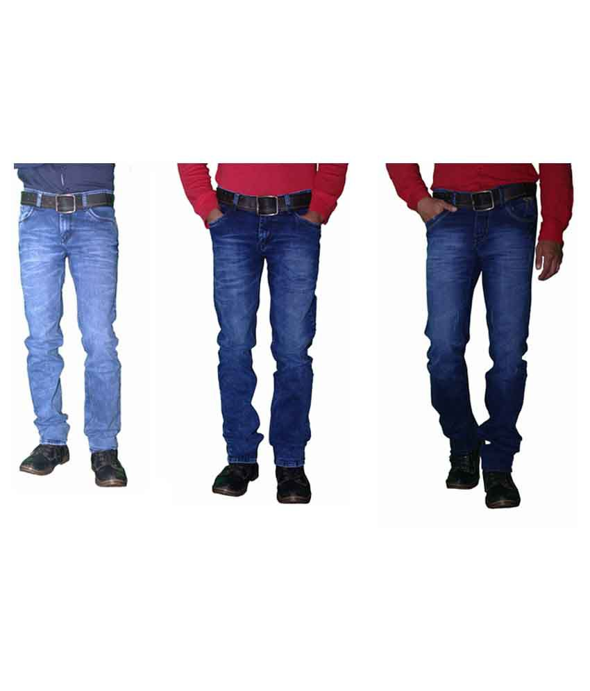 Forma Blue Regular Fit Jeans Set Of 3