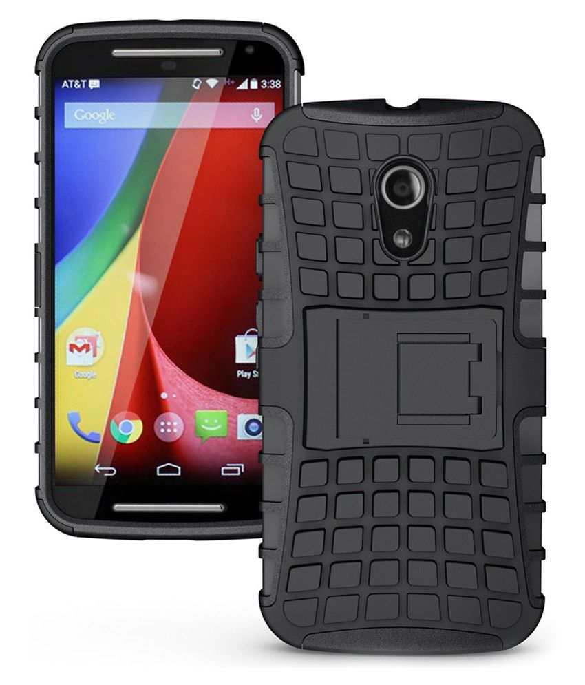 new styles f1b07 a88d1 Noise Back Cover With Stand For Motorola Moto G2 - Black