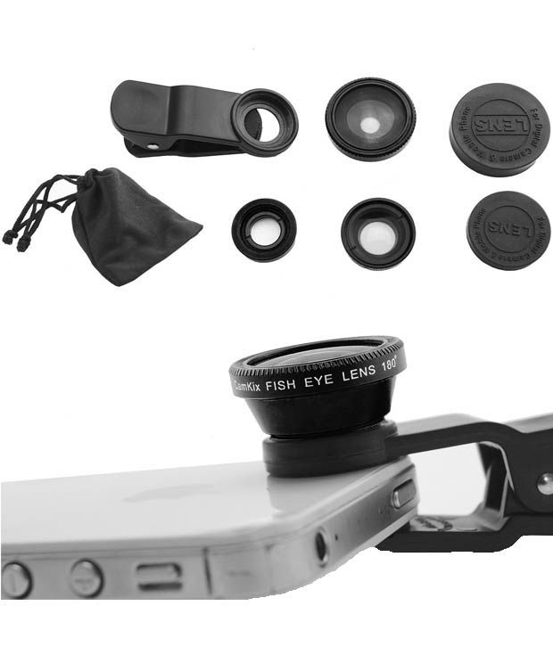 Nukkads Clip-on 3 In 1 Fisheye Macro Camera Lens For Universal Phones