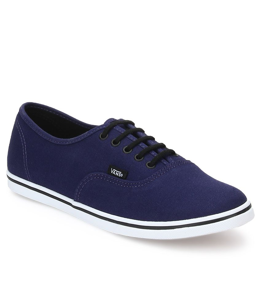 79f16e537c Vans Authentic Lo Pro Blue Casual Shoes Price in India- Buy Vans Authentic  Lo Pro Blue Casual Shoes Online at Snapdeal