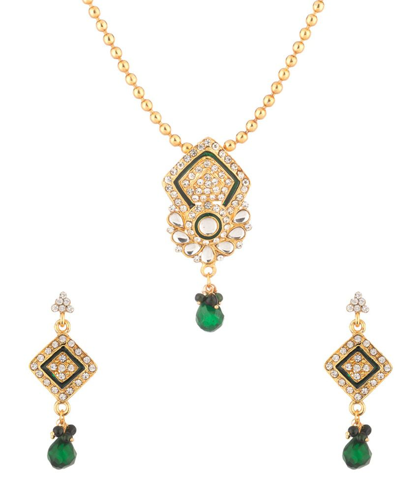 Voylla Golden Necklace Set