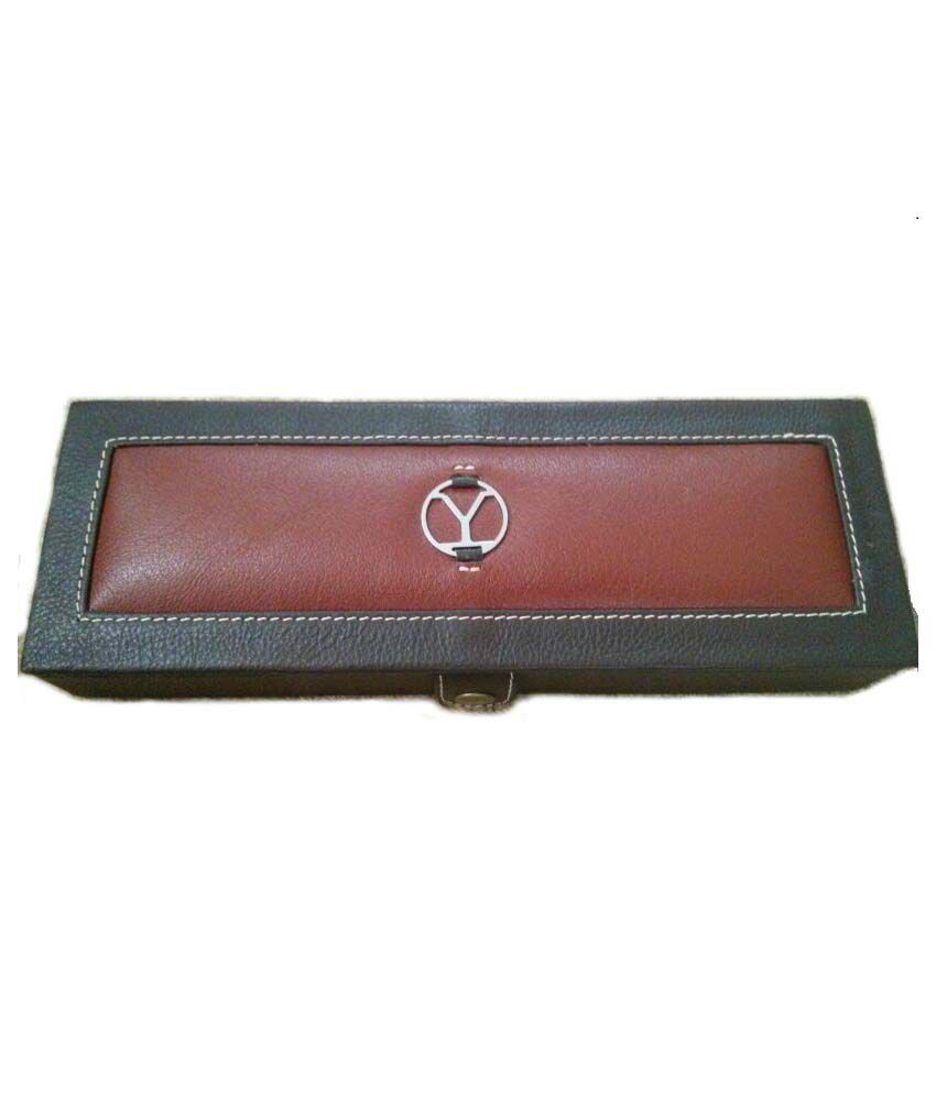 Ystore Brown Leather Finger Ring Box