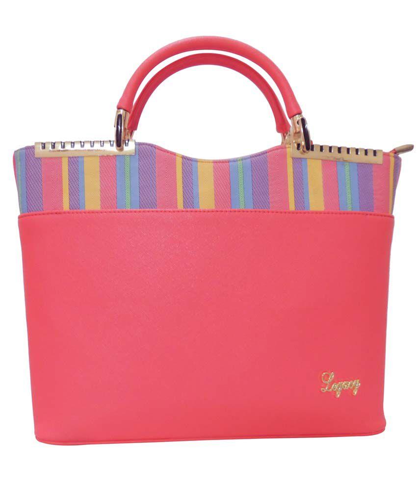 Legacy Pink Shoulder Bags - Comobo Of 5