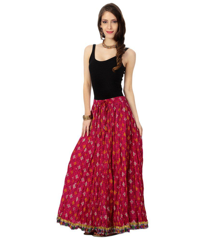 4cf0fbdf4 Akkriti by Pantaloons Red Ethnic Long Skirt - Buy Akkriti by ...