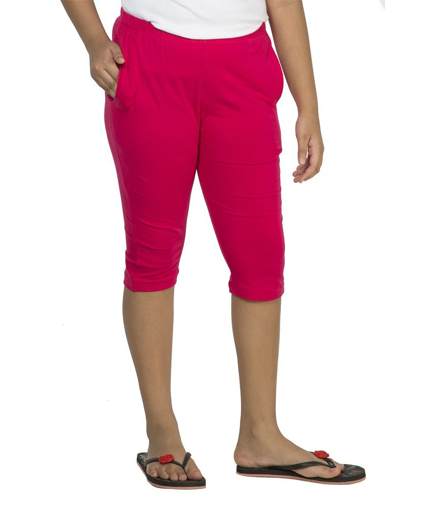 Clifton Pink Cotton Capri