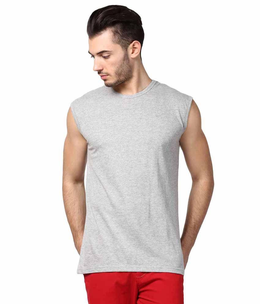 INKOVY Grey Cotton T-shirt