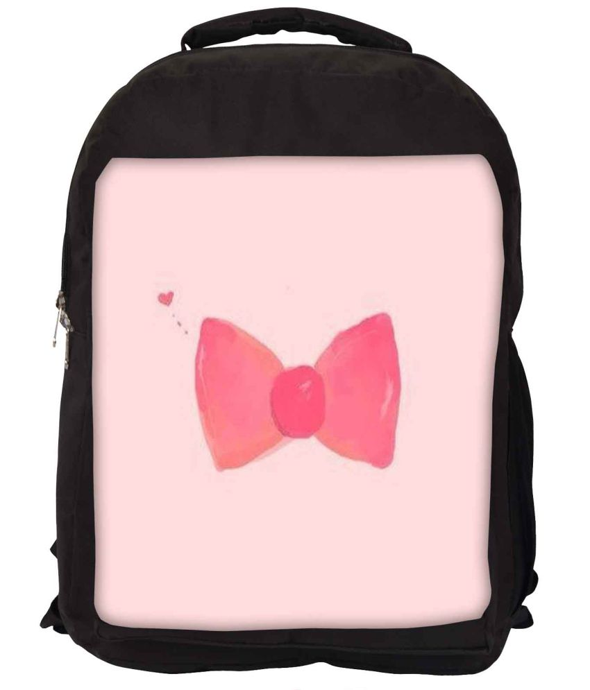 Snoogg Pink Nylon Laptop Backpack