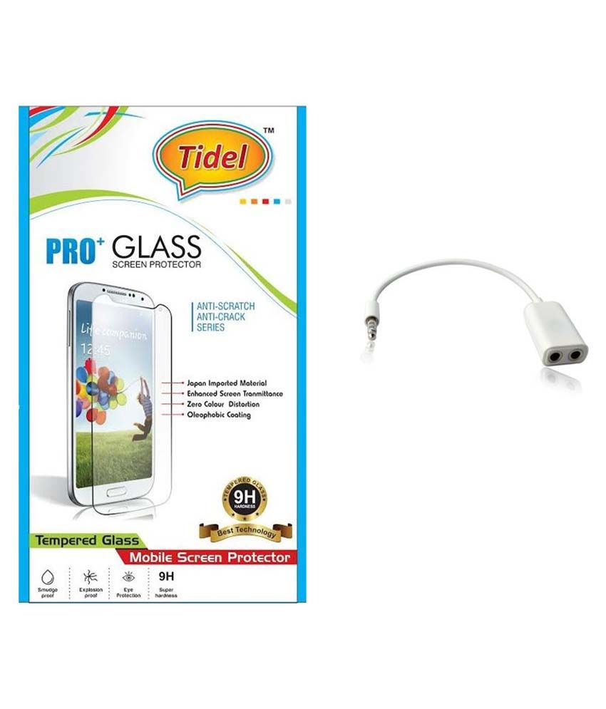 Infocus M350 Tempered Glass Screen Guard with Audio Spliter by Tidel