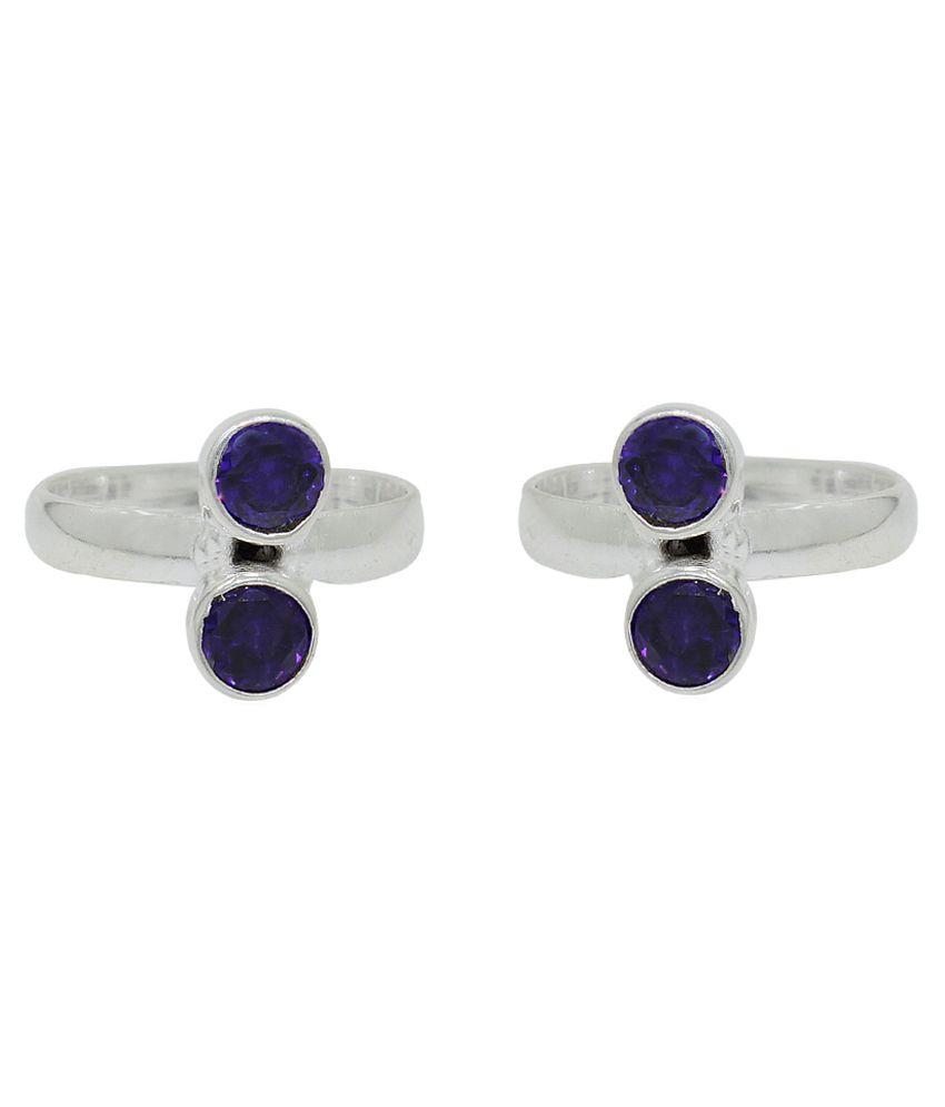 Frabjous Blue Designer Toe-ring