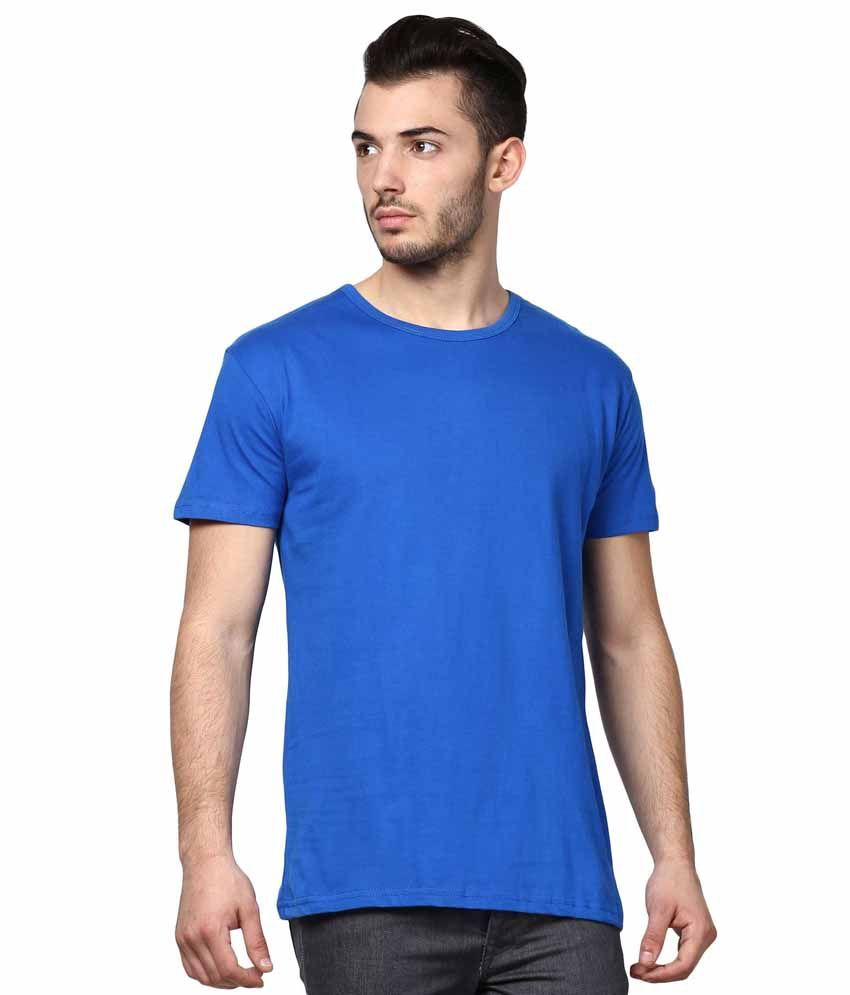 INKOVY Blue Cotton T-shirt