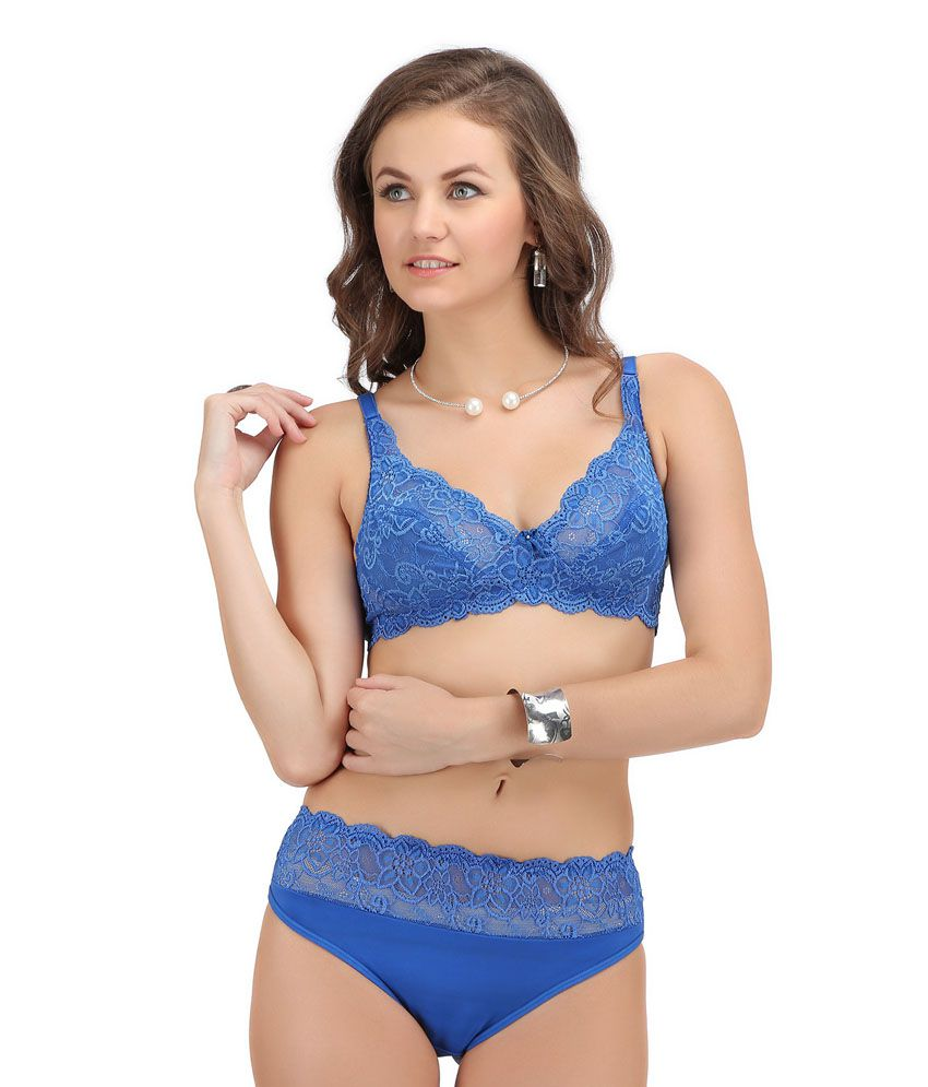 a09409af3ce8 Buy Sona Blue Bra & Panty Sets Online at Best Prices in India - Snapdeal