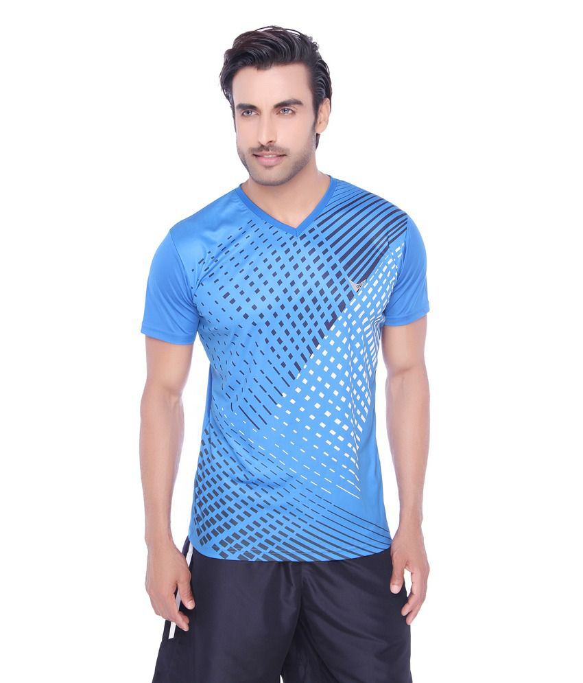Valentine Men's Pique Fabric Sports T-Shirt-Firozi