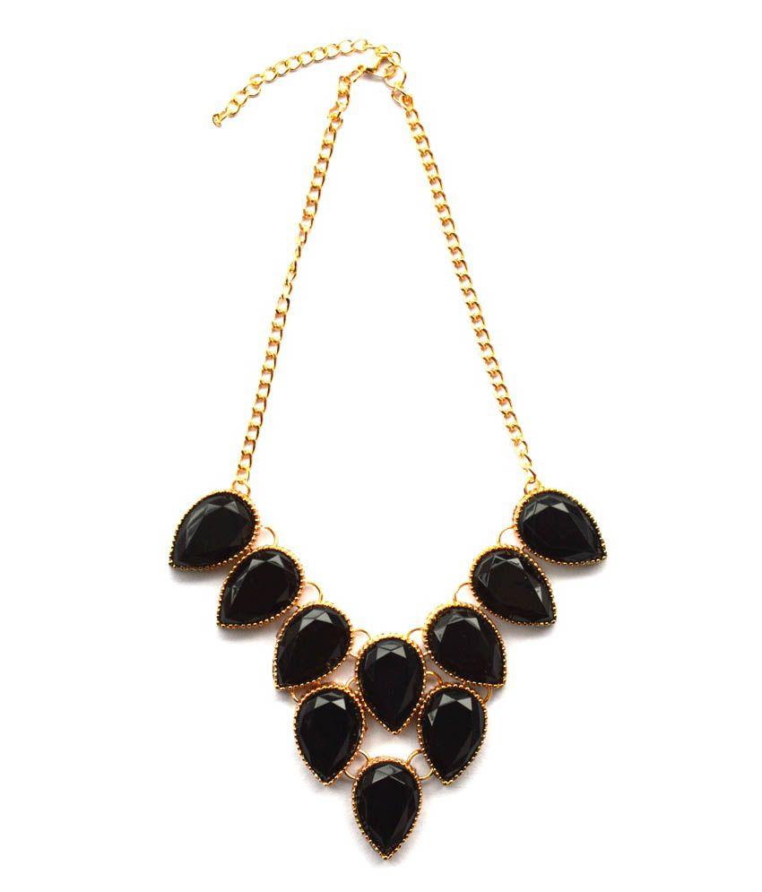 Volaliva Black Alloy Necklace