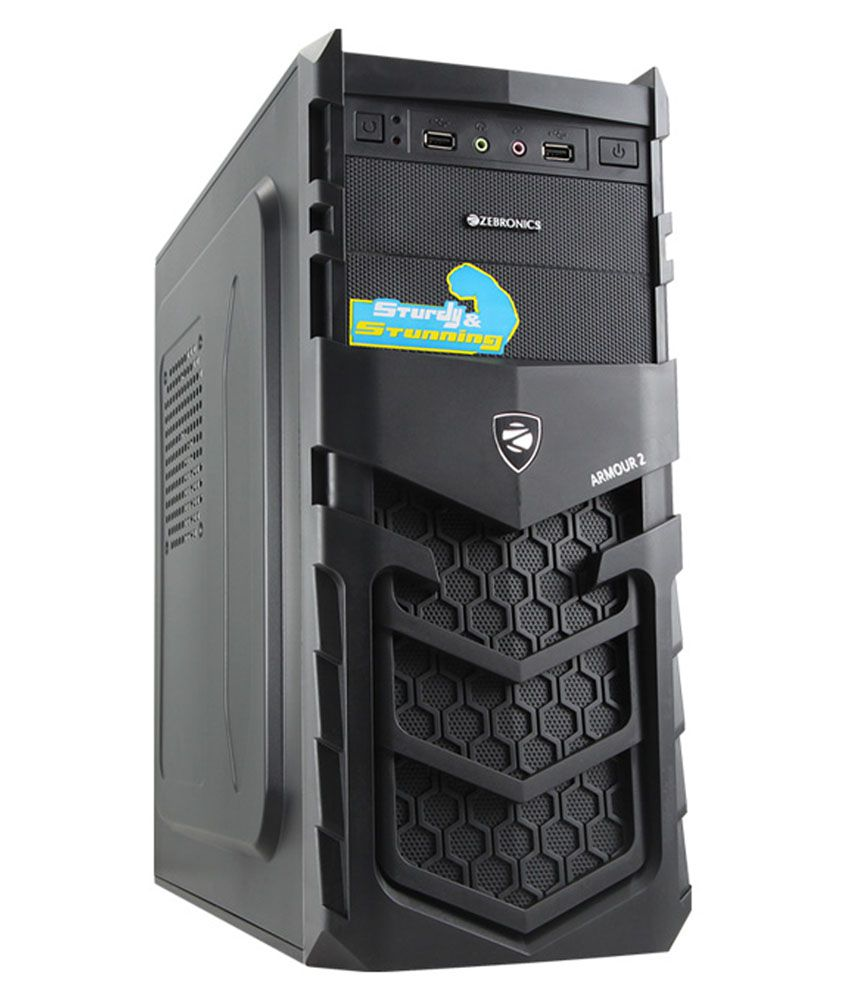 Zebronics Armour 2 Cabinet Without Smps Black Buy