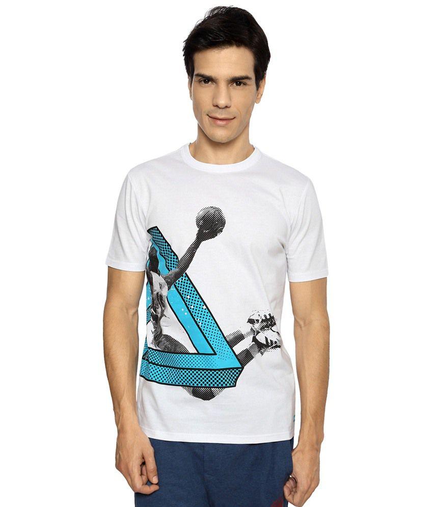 Ajile by Pantaloons White & Blue Printed Activewear T Shirt