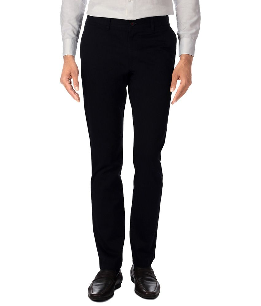 Byford by Pantaloons Black Formal Trousers
