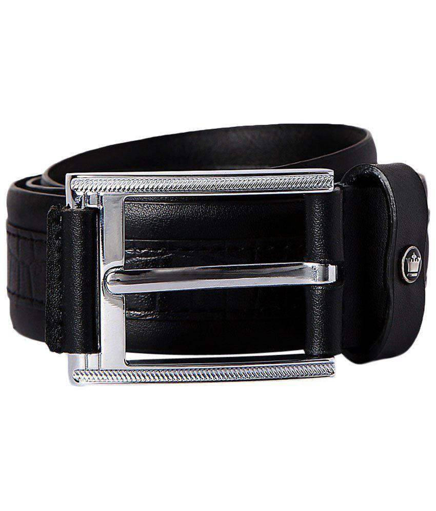 Louis Philippe Black Casual Belt