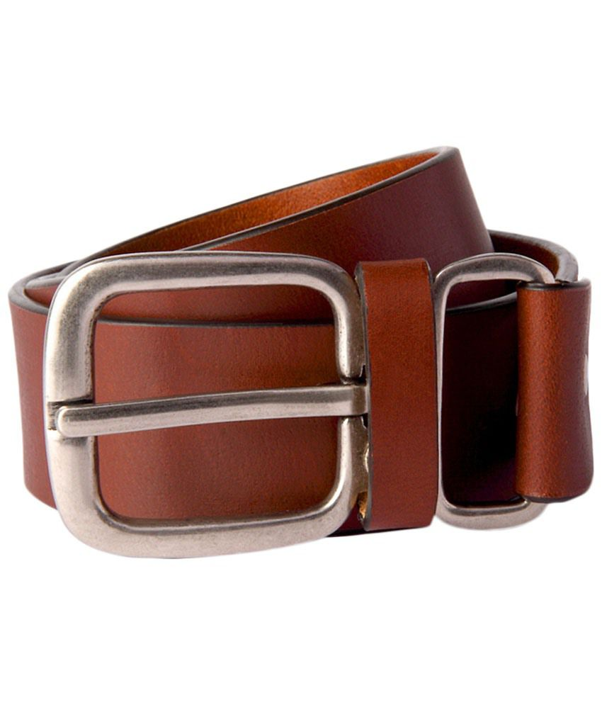 Louis Philippe Brown Casual Belt