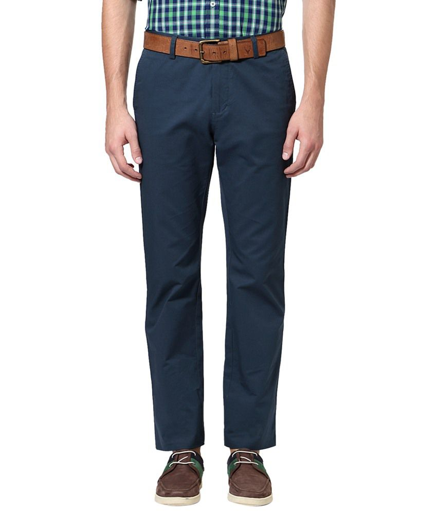 Allen Solly Blue Casual Trousers