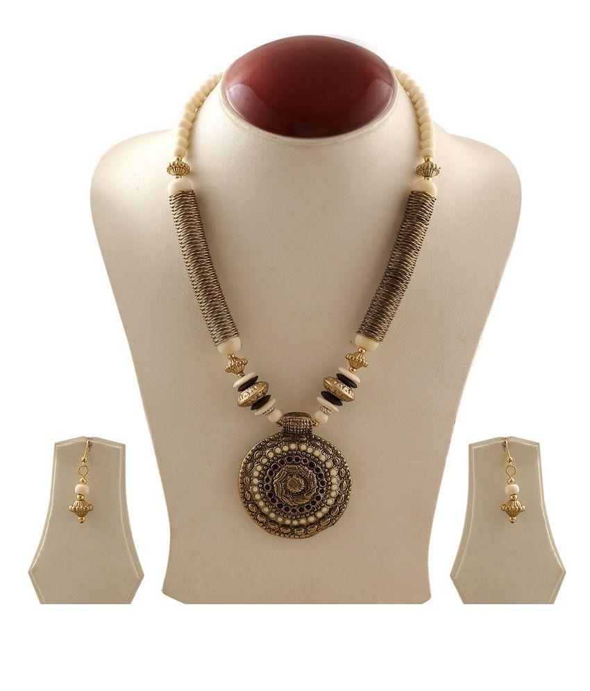 Apsara Statement Necklace ( White)
