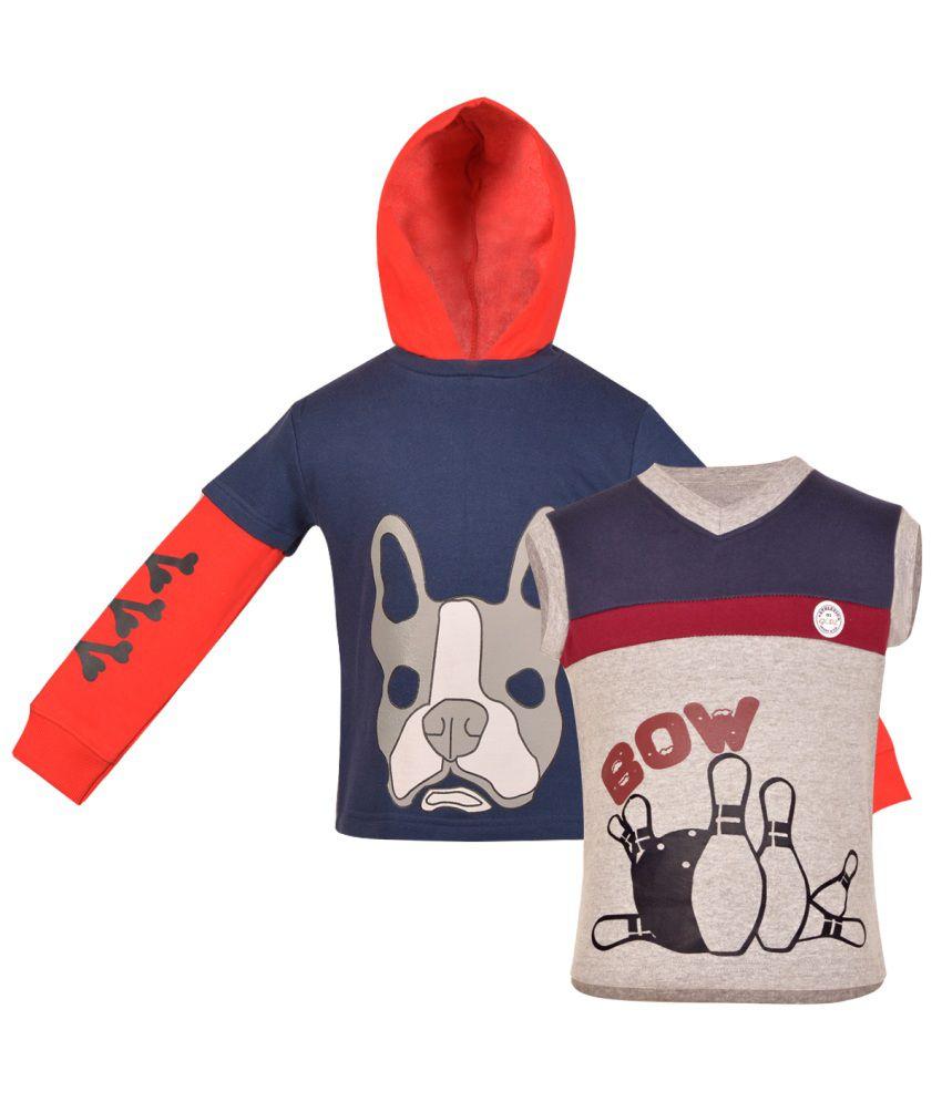 Gkidz Multicolour Cotton Sweatshirts For Boys (Set Of 2)