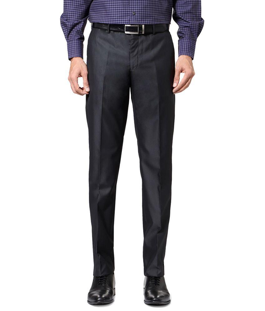 Van Heusen Gray Casual Trousers