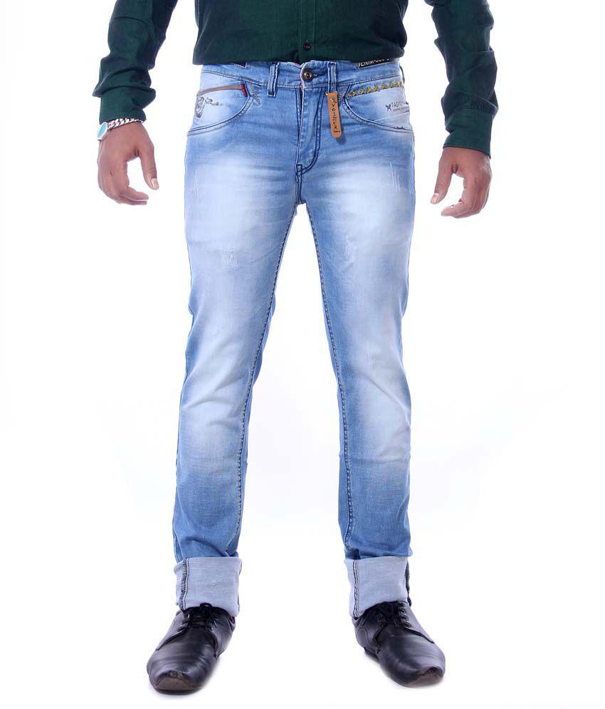 Voizer Blue Slim Fit Jeans