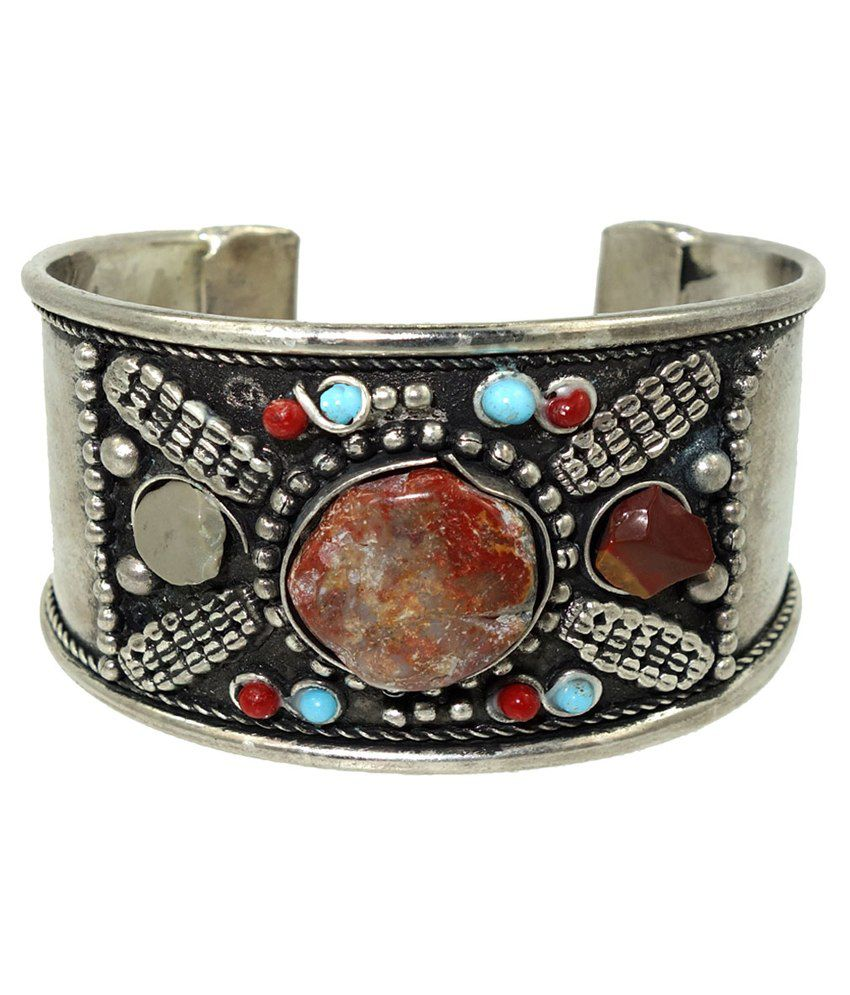 Anjan Casual Hit Silver Coloured Bead Cuff