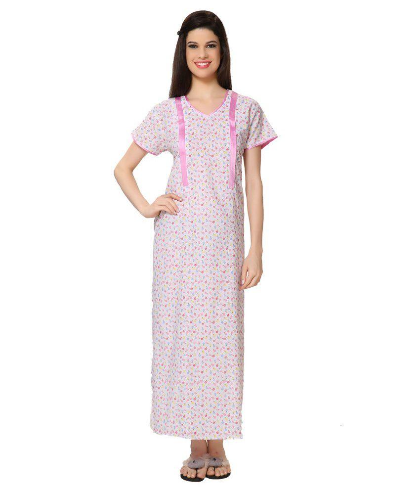 Buy Eazy Women\'s Feeding Nighty Full Long Pregnant Gown Fiding ...