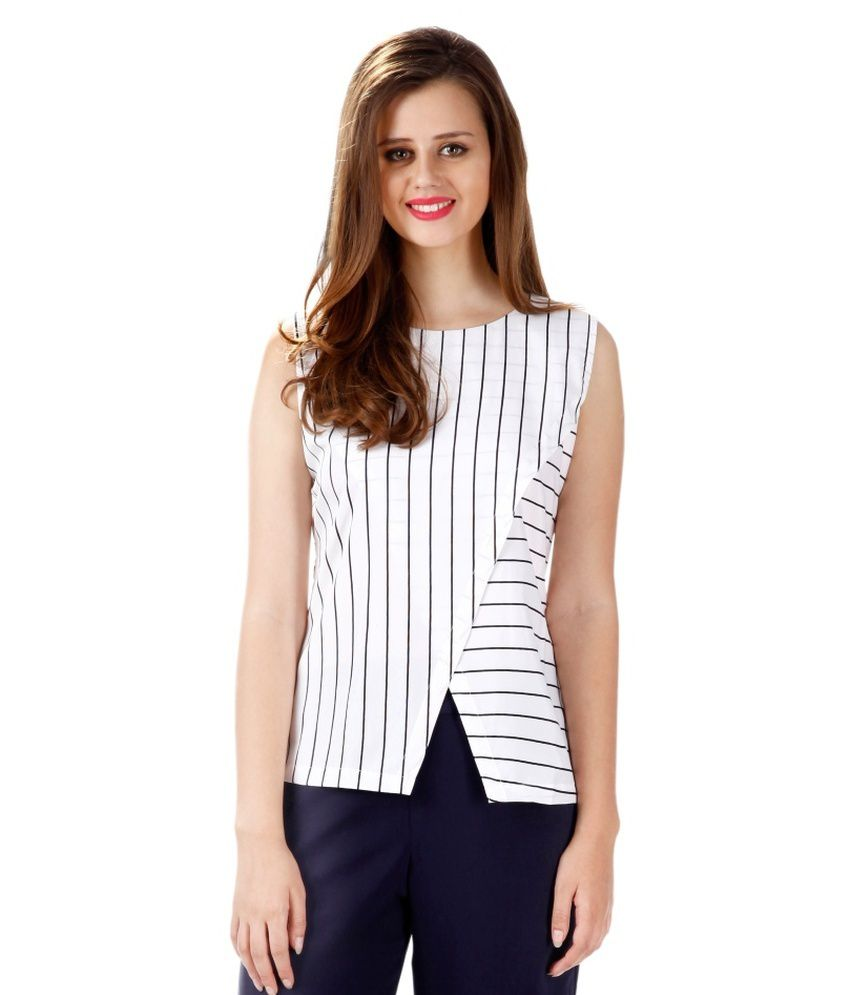 d824c2cf275 Miss Chase White Striped Shift Tops For Women Sleeveless Boat Neck Casual  Wear - Buy Miss Chase White Striped Shift Tops For Women Sleeveless Boat  Neck ...