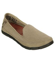 Crocs Khaki Casual Shoes Relaxed Fit