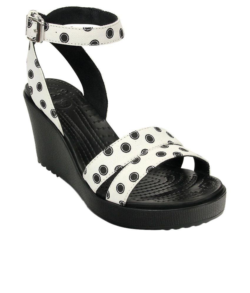 Crocs Black Heeled Slip-on & Pump Standard Fit