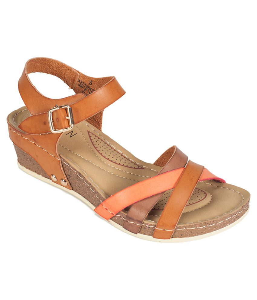 Khadim's Brown Wedges Heels