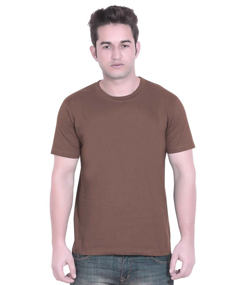London Police Brown Cotton T-Shirt