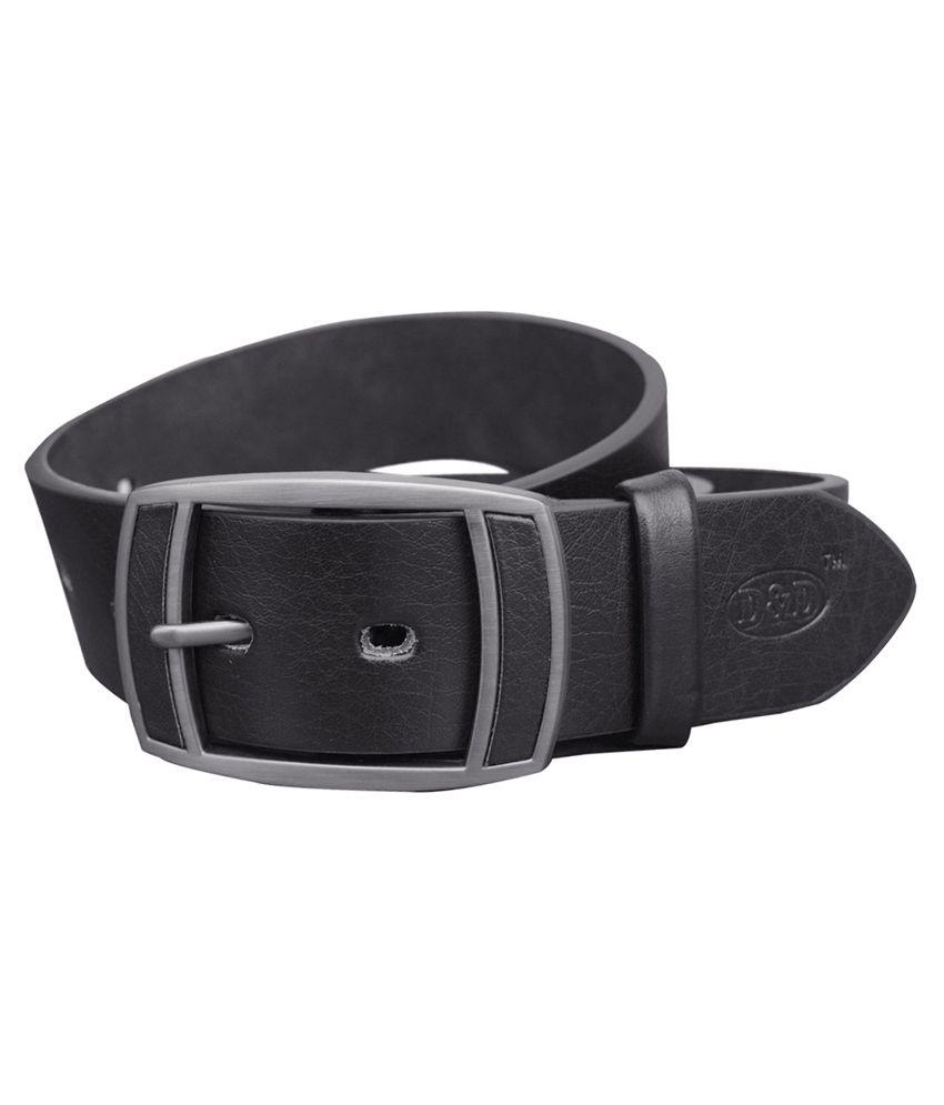 D&d Black Non Leather Formal Belt