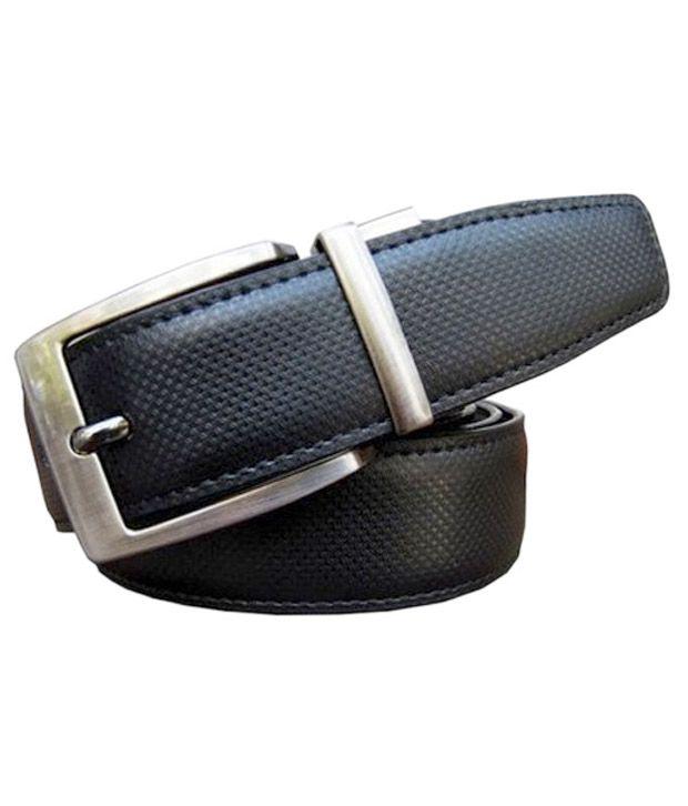 Shop M S M Black Formal Reversible Belt For Men