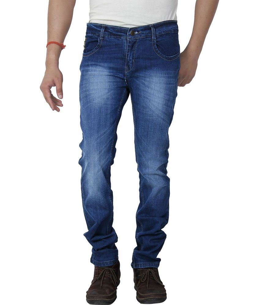 Dhanlaxmi Blue Regular Fit Jeans Set Of 2