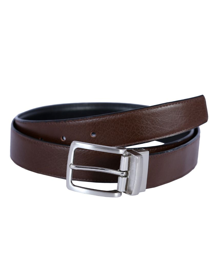 Hardy's Collection Brown Leather Formal Belt For Men