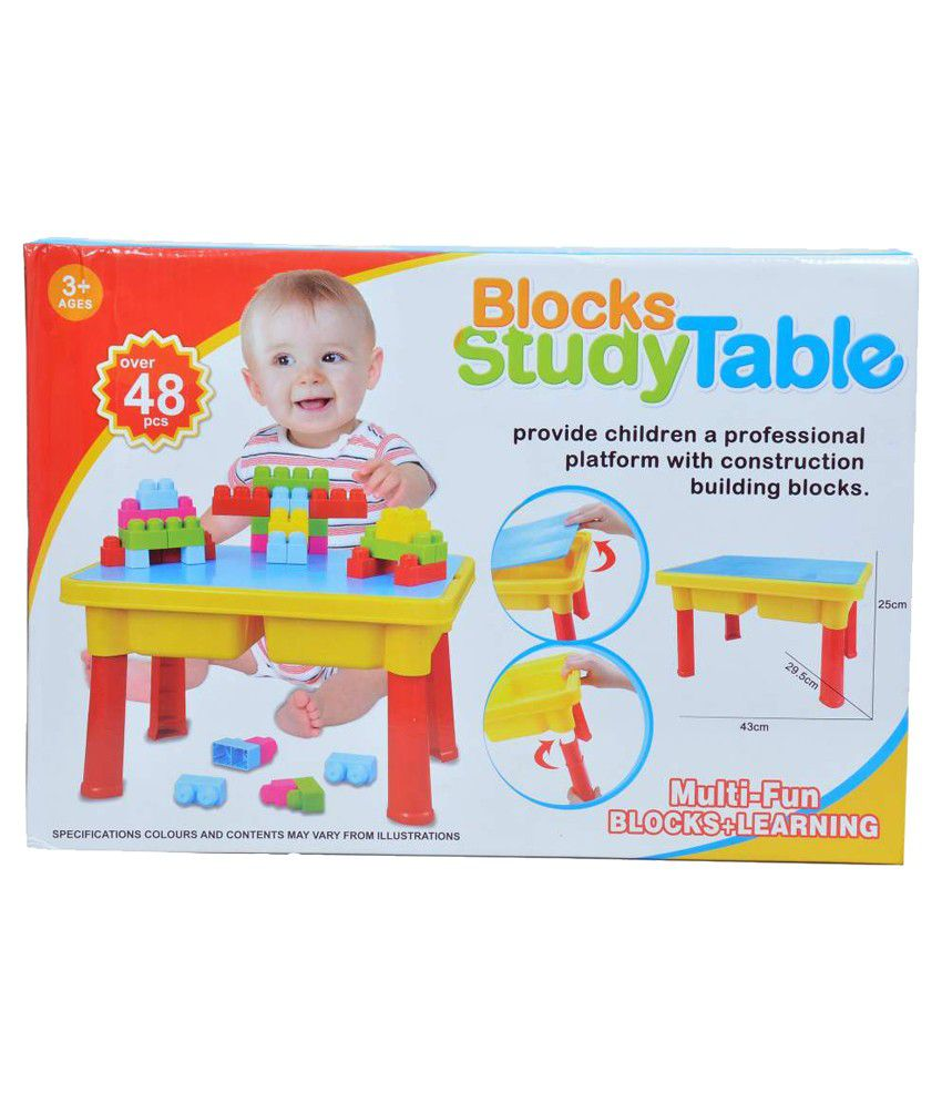 Innovation Multicolour Multi fun Block Building And Study Table