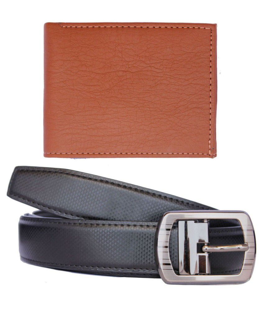 Discover Fashion Black Formal Combo Of Belt And Wallet