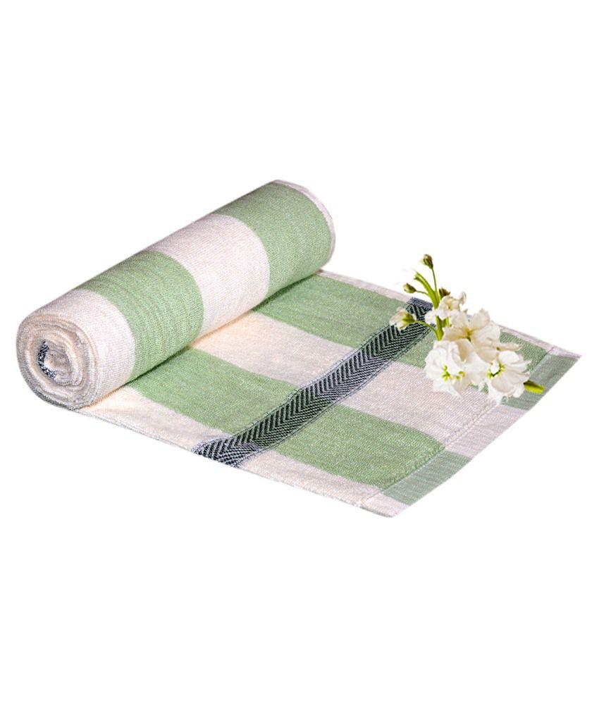 Homesazz Green Cotton Bath Towel