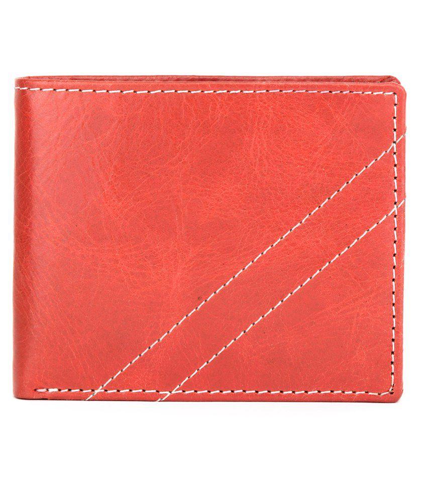 U+N Tan Leather Regular Wallet