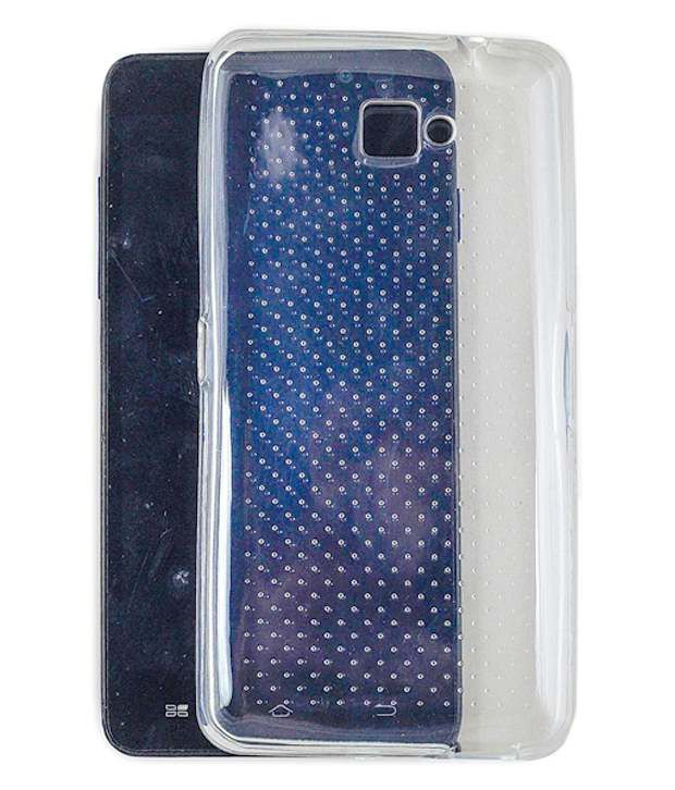 buy online 5a912 5346d Ms Panasonic Eluga S Back Cover Doted Transparent Cover Case