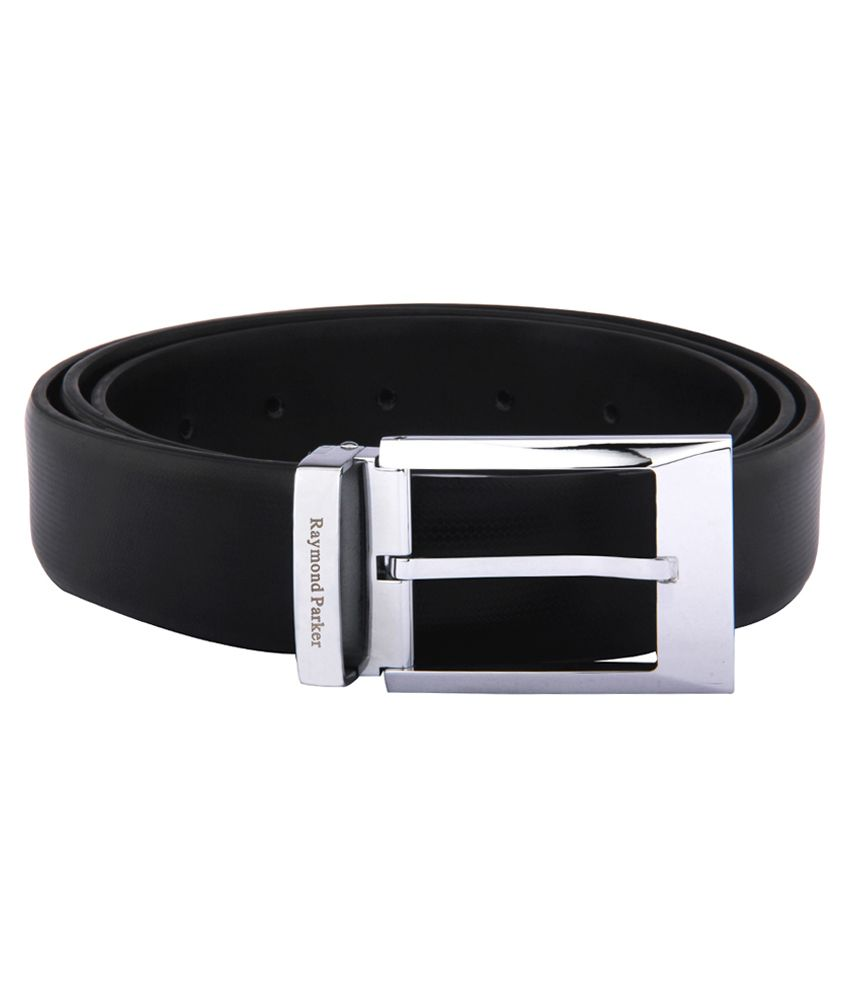 Raymond Parker Black Leather Formal Belt
