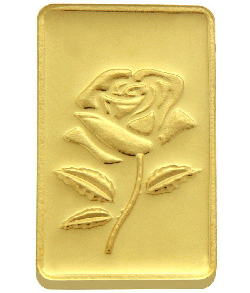 TBZ - The Original 15 Grms Rose 24KT 999 Gold Coin