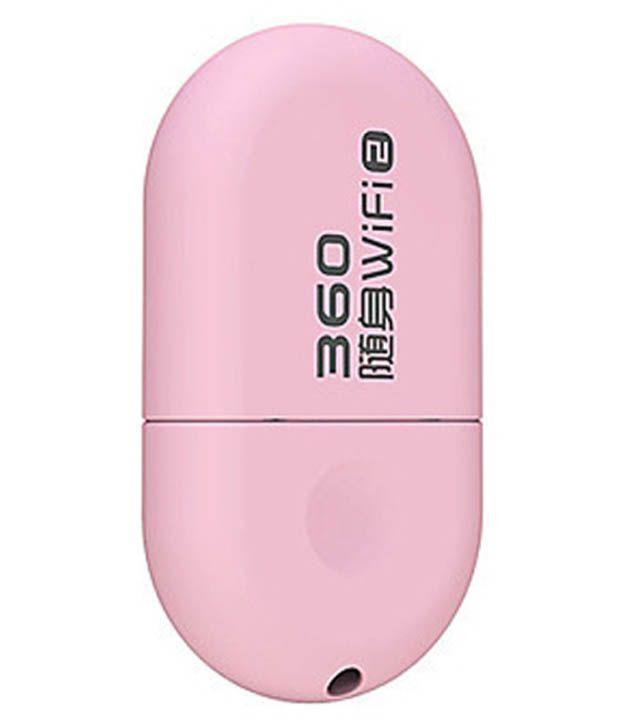 360 Wi-fi 150 Mbps Pink Wireless Adaptor