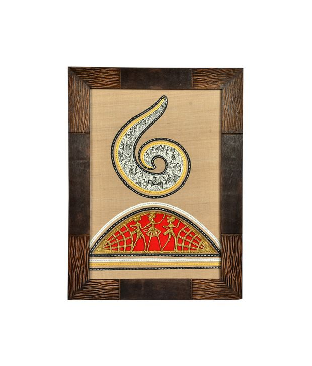 ExclusiveLane Handpainted with Warli And Dhokra Art Wood Painting With Frame Single Piece