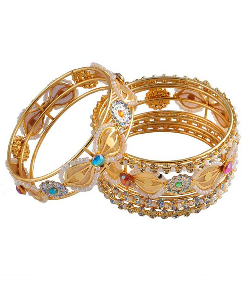 Ridhi Sidhi Collection Gold Antique Bangles