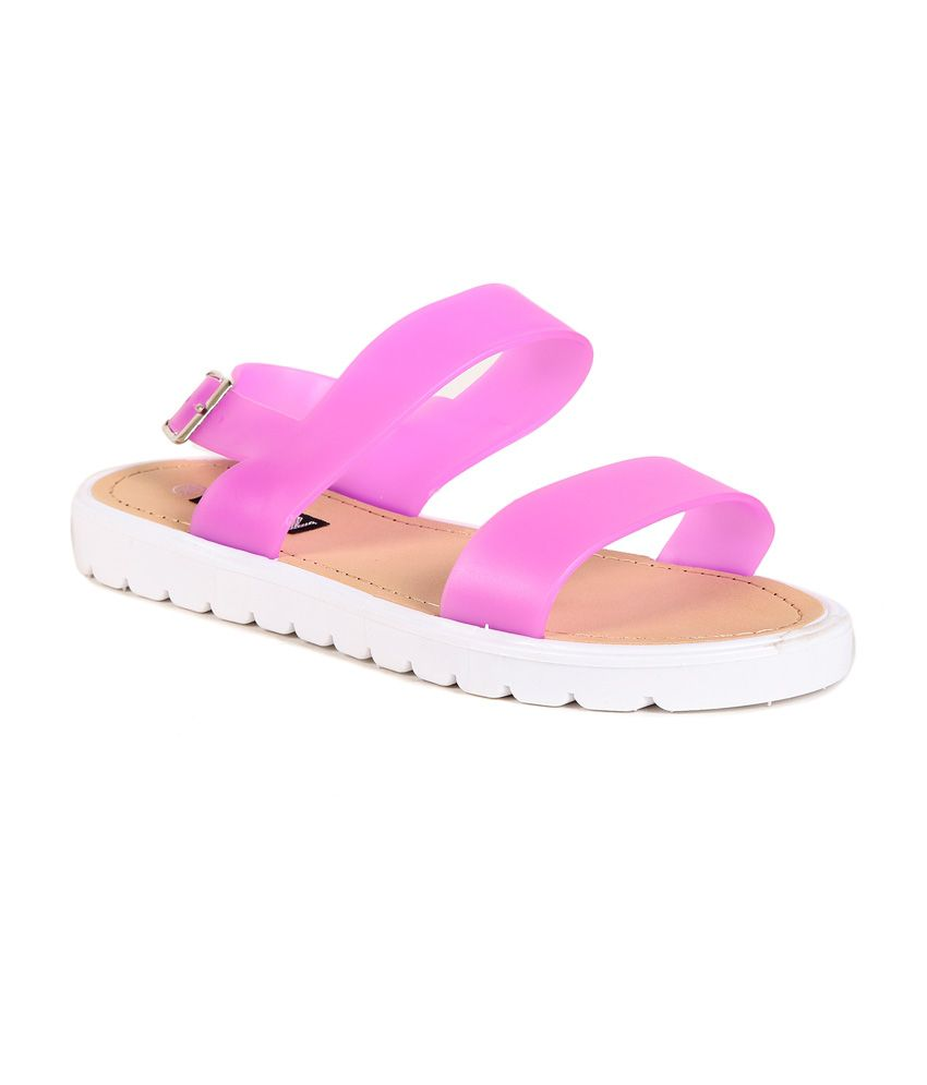 TEN Pink PVC Sandals