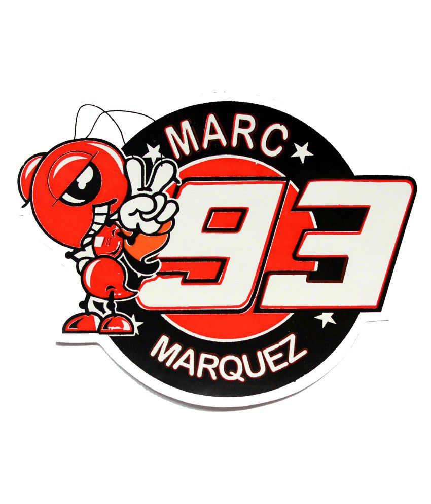 Bliss Junkies Multicolour Marc Marquez 93 Decal Sticker for Bike